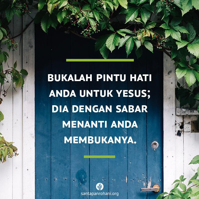 Bukalah pintu hati Anda untuk Yesus