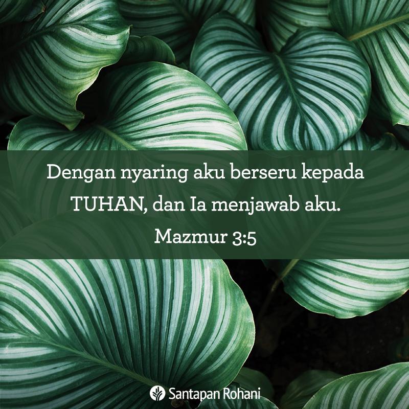 Dengan nyaring aku berseru kepada Tuhan