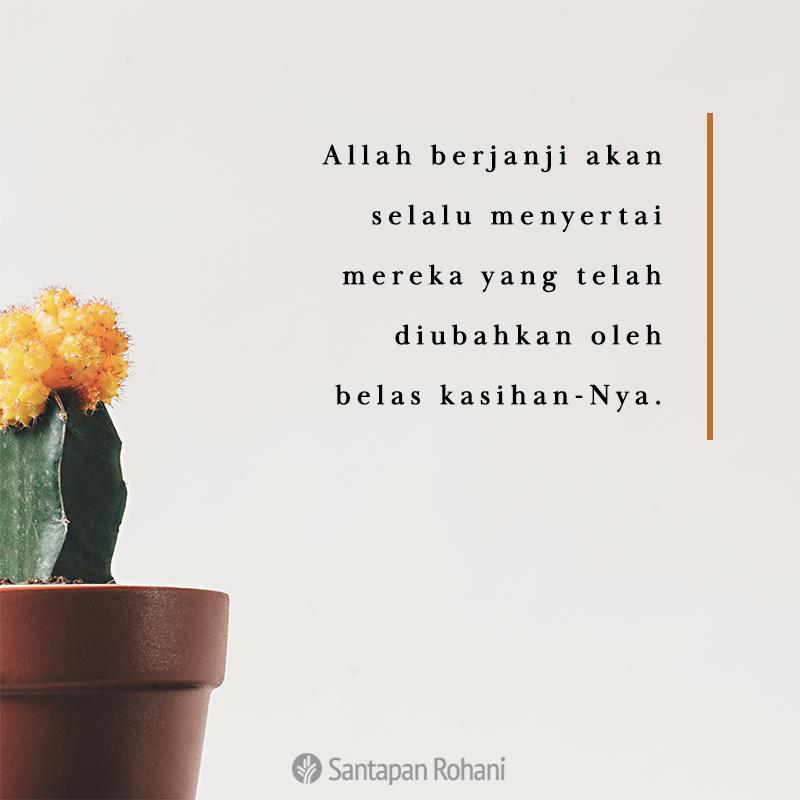 Allah berjanji akan selalu menyertai