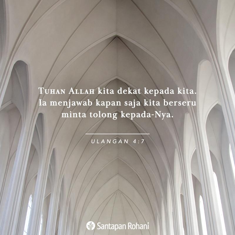 Tuhan Allah kita dekat kepada kita